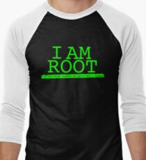 Linux I Am Root If You See Me Laughing You Better Have A Backup Men's Baseball ¾ T-Shirt