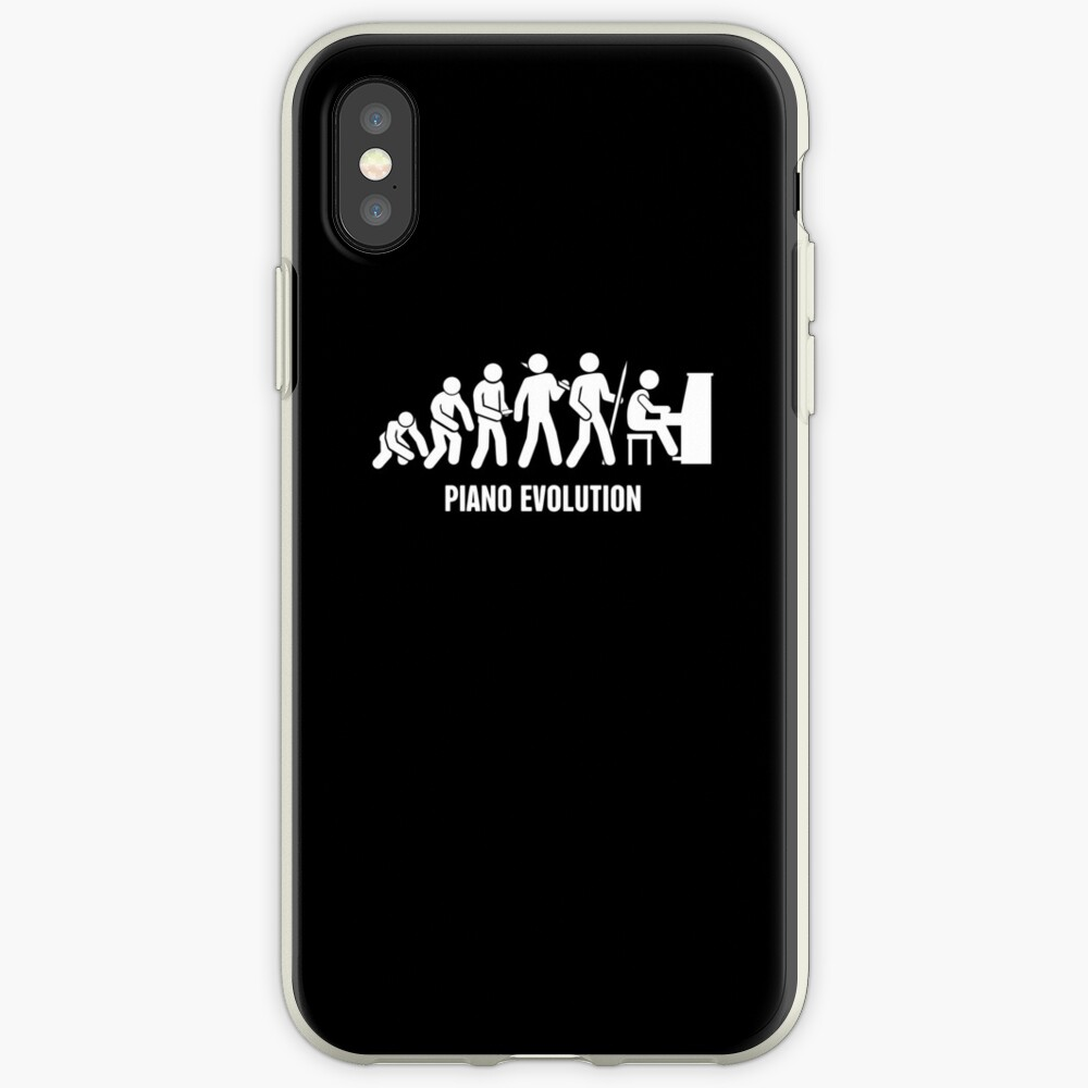 Evolution Of The Piano Player iPhone Case & Cover