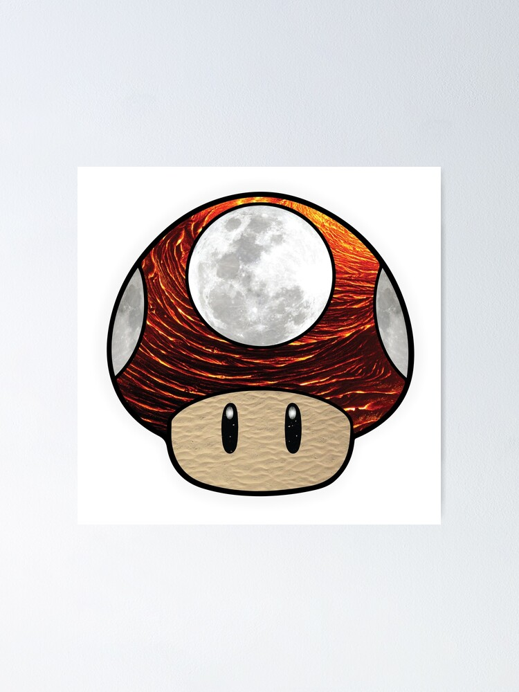 Trippy 1 Up Mushroom Poster By Slice Of Pizzo Redbubble