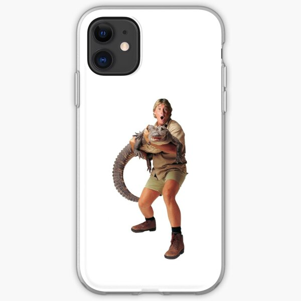 steve irwin and croc iPhone Soft Case