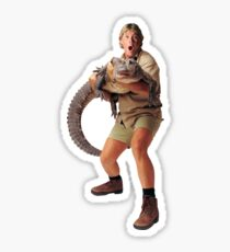 steve irwin and croc Sticker