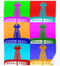 Funky Tesla Tower  Poster