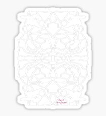 Snowy Owl with Night Blooming Flowers Sticker