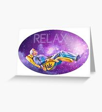 Relaxing Galaxy  Greeting Card