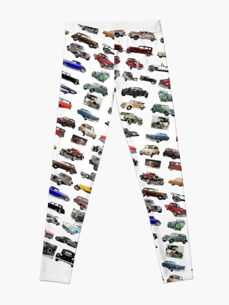 Alternate view of ancient, pristine, antique, early, carriage, coach,  passenger car, motor Leggings
