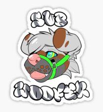 Neutrales Subwoofer-Kleid Sticker