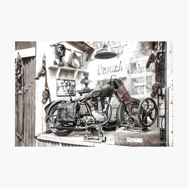 Vintage 1952 BSA Motorcycle Photographic Print