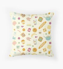 Who else loves breakfast? Throw Pillow