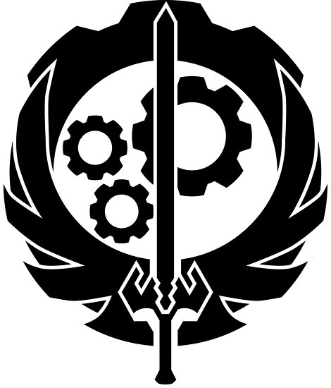 A Better Brotherhood Of Steel Symbol Posters By Bitradical Redbubble