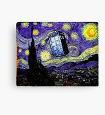 The Tardis in the Starry Night Canvas Print