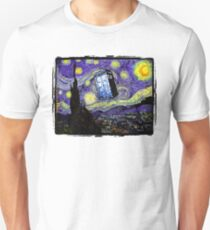 The Tardis in the Starry Night Unisex T-Shirt