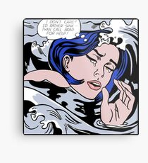 Roy Lichtenstein Drowning Girl High Quality Metal Print