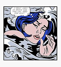 Roy Lichtenstein Drowning Girl High Quality Photographic Print