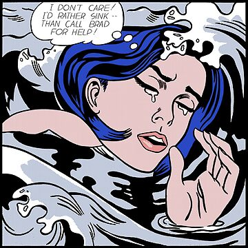 Roy Lichtenstein Drowning Girl High Quality by jasmineGold