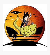 Sunset Fly Little Goku Photographic Print