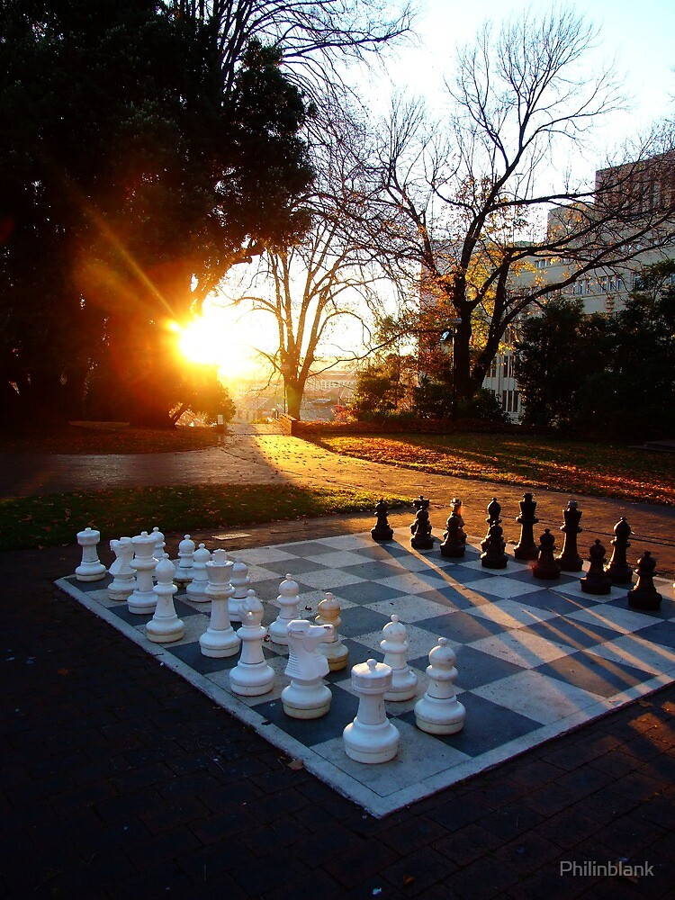 Chess at Dawn by Philinblank