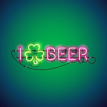 I Like Beer Neon Sign by Voysla