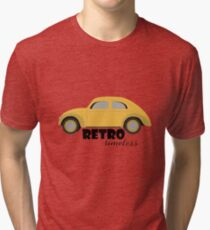 Retro Machine. Vintage Car Out of Time Tri-blend T-Shirt