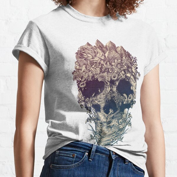 Skull Floral Classic T-Shirt