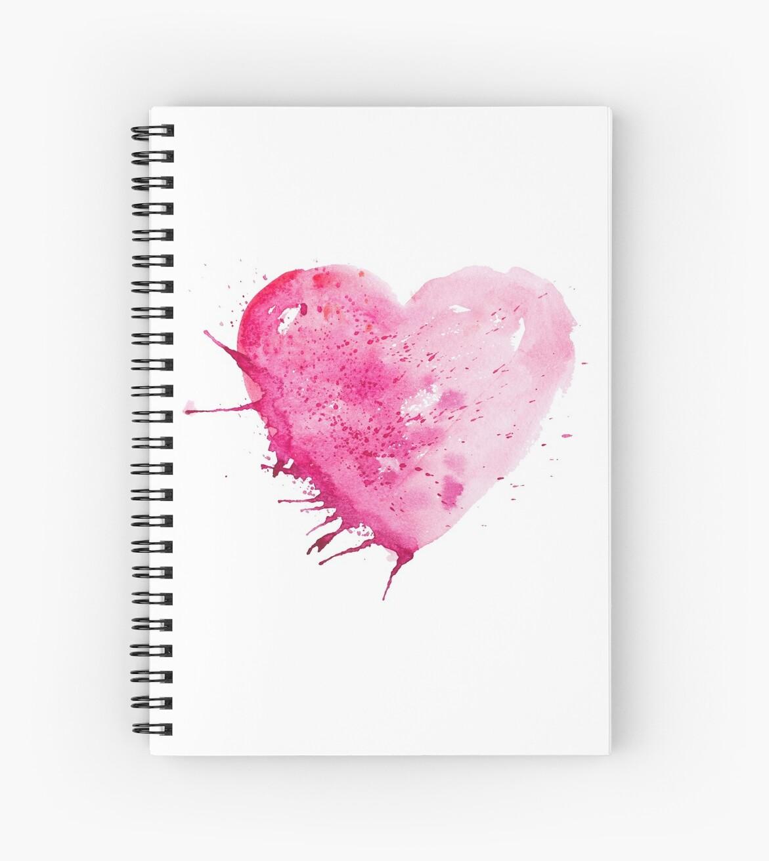 Cuadernos de espiral «Acuarela acuarela amor corazón valentines ...