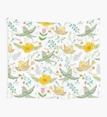 Spring birds and flowers Wall Tapestry