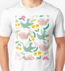 Birds and flowers Unisex T-Shirt