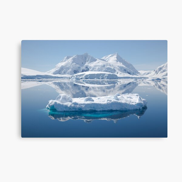 Ice reflections Canvas Print
