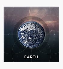 Earth Astrographic Photographic Print