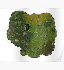 Map Fortnite Poster