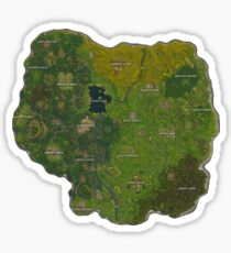 Map Fortnite Sticker