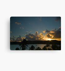 Carribean sunset Canvas Print