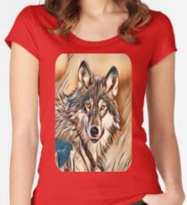 The Grey Timber Wolf Women's Fitted Scoop T-Shirt