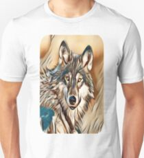 The Grey Timber Wolf Unisex T-Shirt