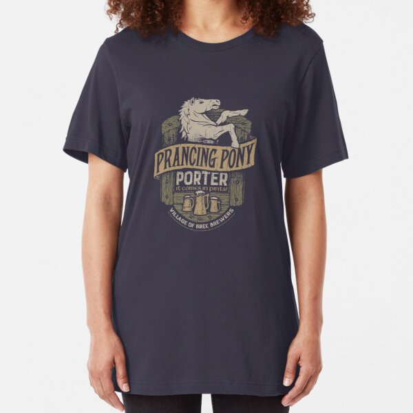 Prancing Pony Brewery Design Slim Fit T-Shirt