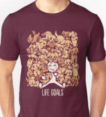 Life Goals - Golden Labrador Retriever dogs Slim Fit T-Shirt