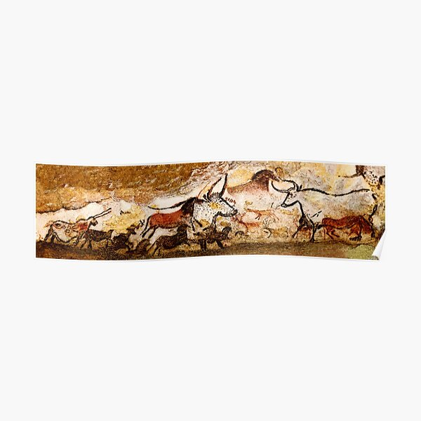 Lascaux Hall of the Bulls Poster
