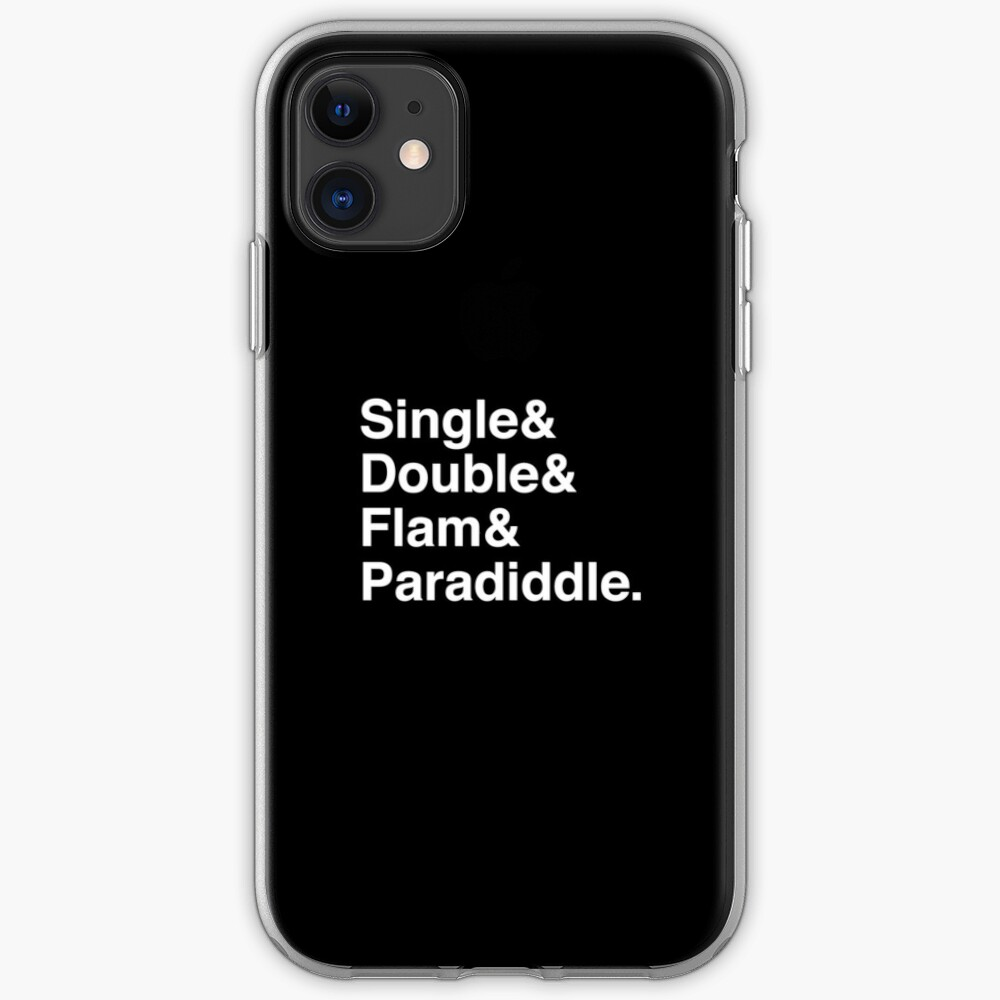 Drum Rudiments (Helvetica Ampersand) iPhone Case & Cover
