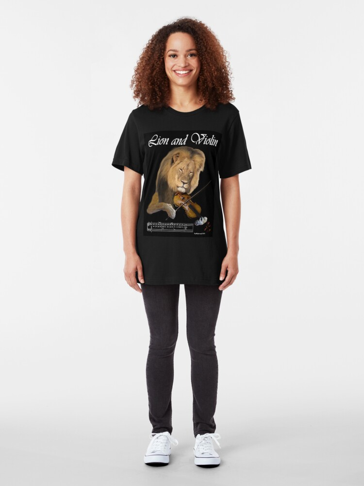 Alternate view of Lion and Violin Slim Fit T-Shirt
