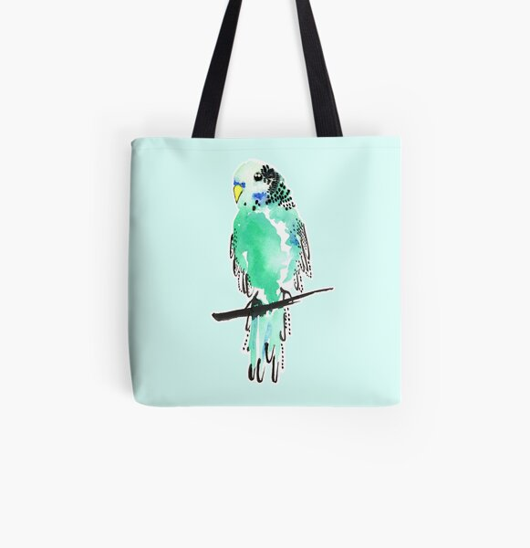 Budgie Bestie All Over Print Tote Bag