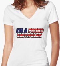 proud shitholer Women's Fitted V-Neck T-Shirt