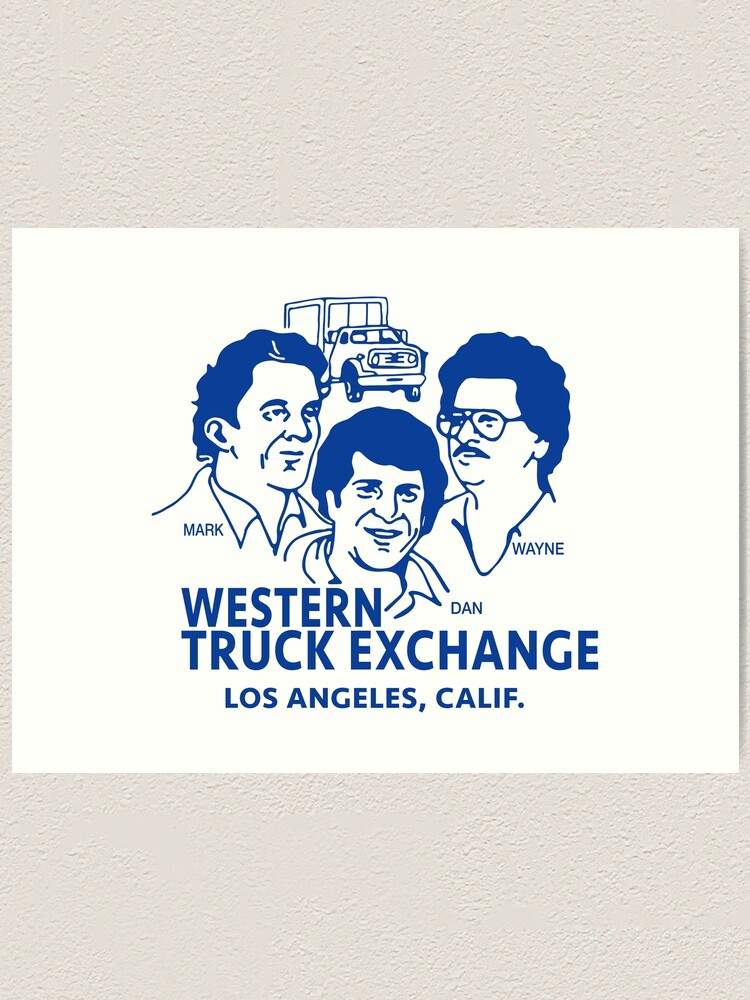 Alternate view of Western Truck Exchange Art Print