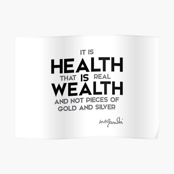 health is wealth - gandhi Poster