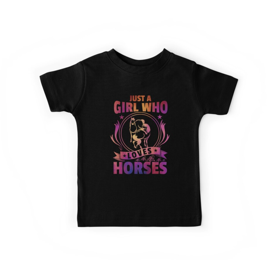 Just A Girl Who Loves Horses | Horse Loving Girl by Distrill