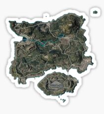 Map PUBG Sticker