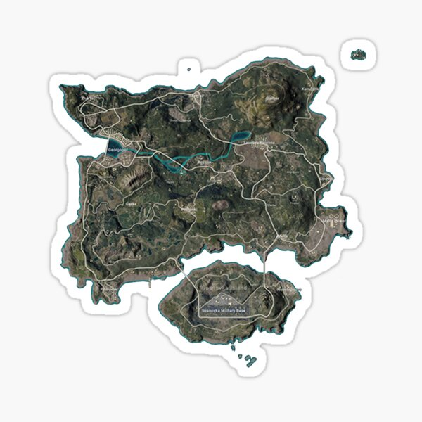 Carte PUBG Sticker