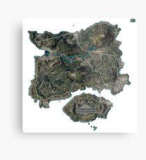 Map PUBG Metal Print