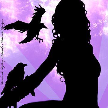Raven Lady by DarkenedMystery