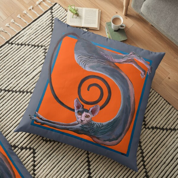 Sphynx Spanked Floor Pillow