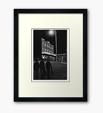 Let's Go Where The Action Is Framed Print