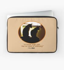 Two Cats in Sillouette Laptop Sleeve